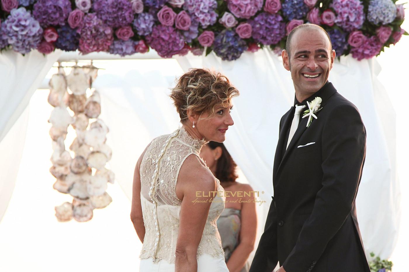Matrimonio in spiaggia organizzato da Eliteeventi