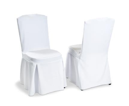 Coprisedie in tessuto raso bianco cuscino incorporato