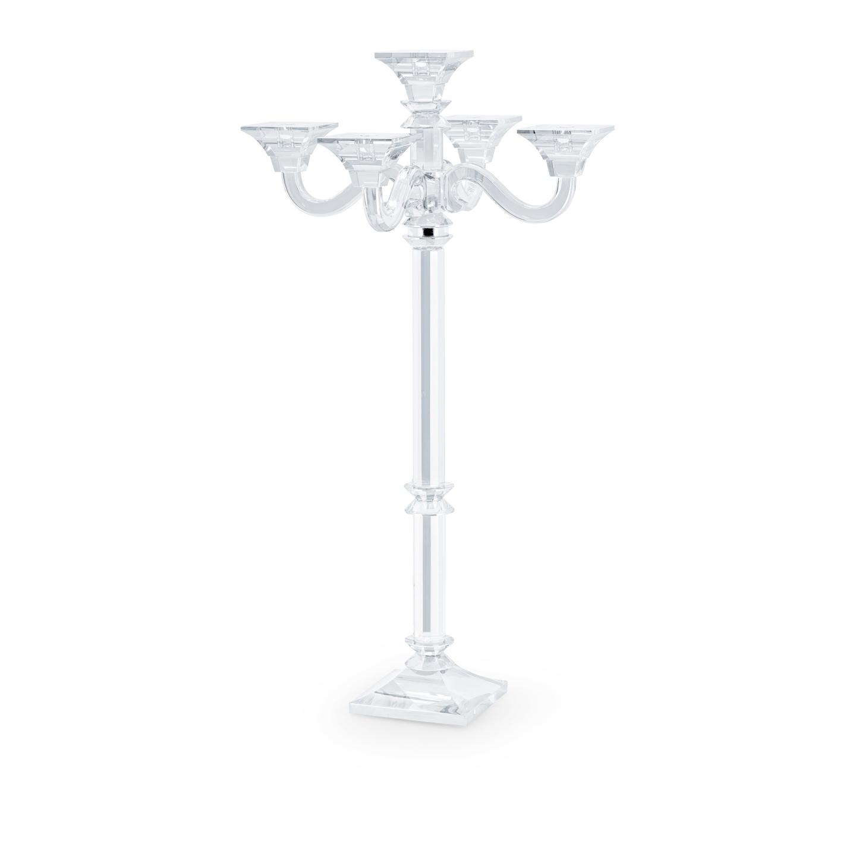 candelabro in cristallo a cinque braccia H 85