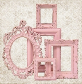 cornici-shabby-rosa