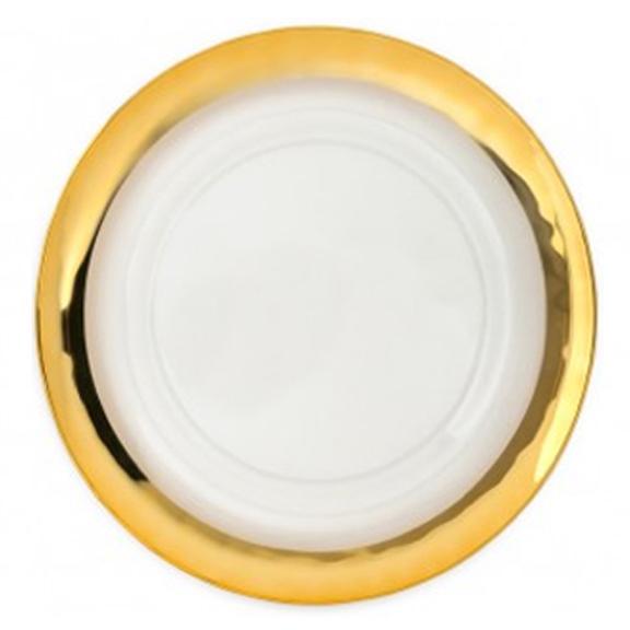 sotto piatto vetro filo oro large