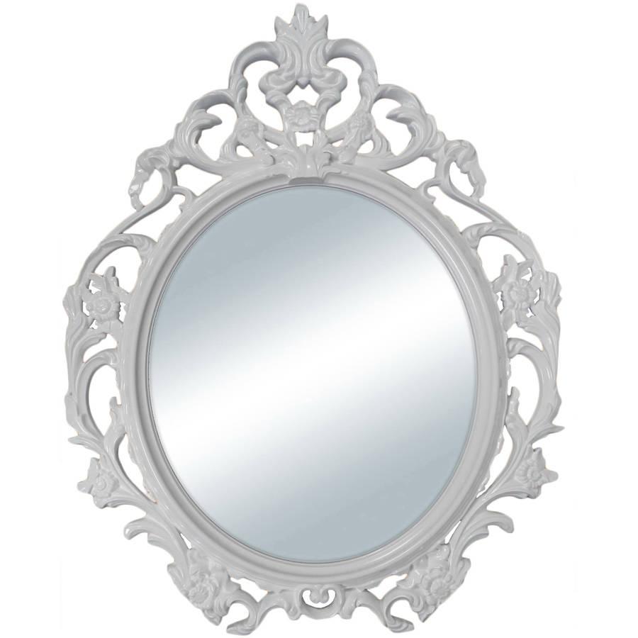 specchio cornice bianca