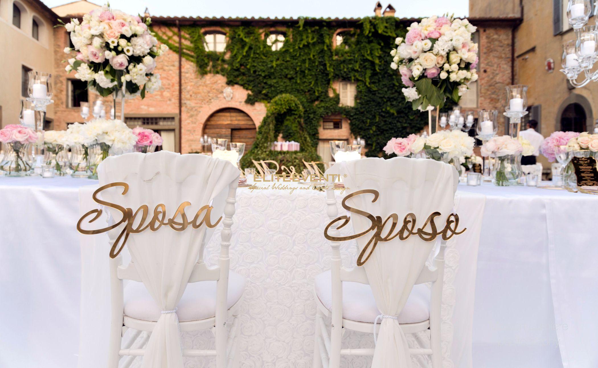 Decorazioni matrimonio a Villa Scorzi - By Eliteeventi