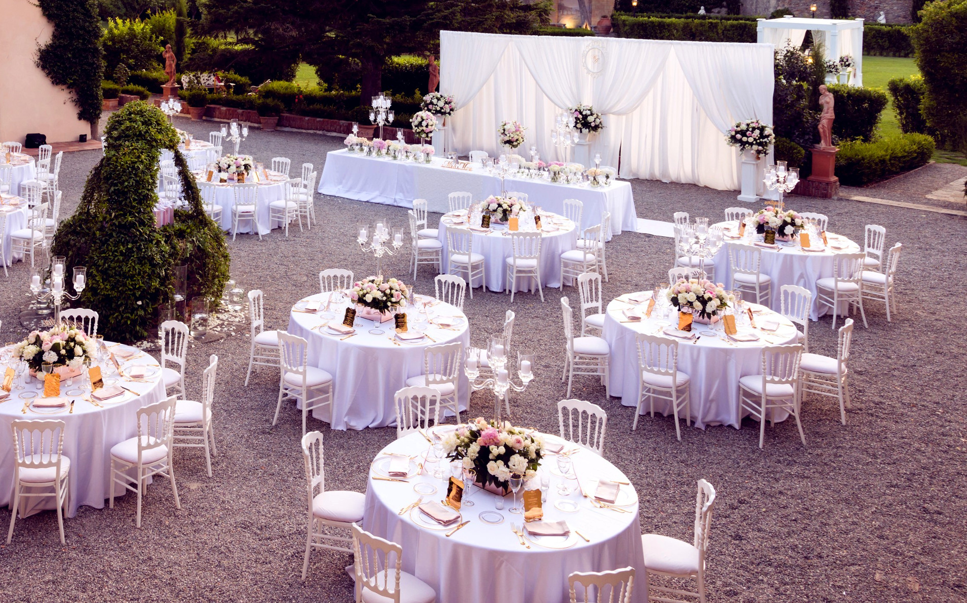 Allestimento matrimonio Villa Scorzi by Eliteeventi