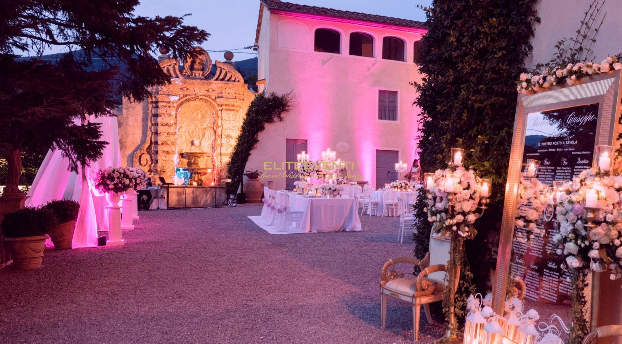 Sogno di una notte di mezza estate - allestimento matrimonio - By Eliteeventi