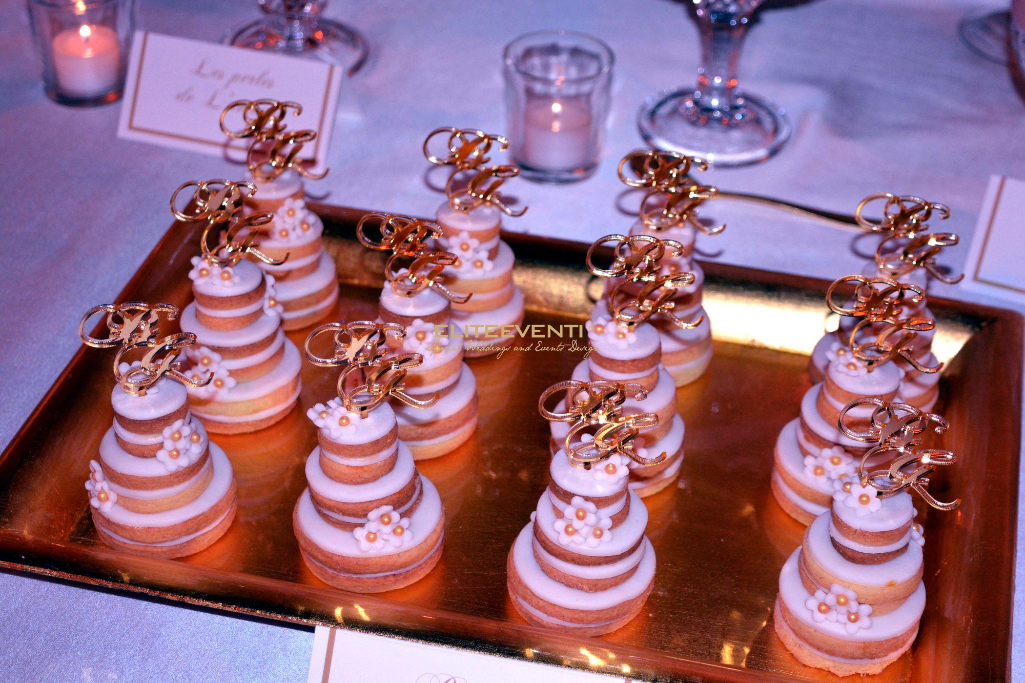 Dettaglio mini torte nuziali by Eliteeventi